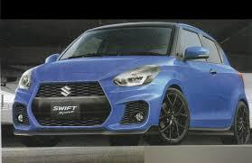 2017 suzuki swift sport blue front three quarters rendering