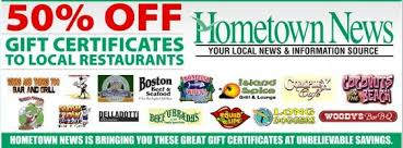 restaurant gift cards half price 50 gift certificates to your favorite space coast restaurants