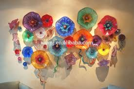 Wholesale Wall Decor Wholesale Hand Made Decorative Blown Murano Art Colored Glass Wall
