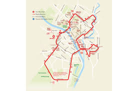 road map of york hop on hop tour york city sightseeing