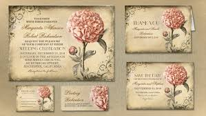 vintage wedding invitation read more gorgeous pink peony bloosom vintage wedding invitation