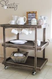 diy kitchen cart diy bar cart beverage cart diy wood and beverage