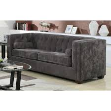 sofas chesterfield style transitional chesterfield sofa with track arms
