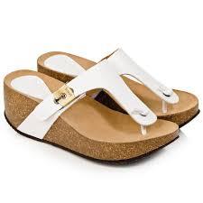 scholl white edna women u0027s wedge toe post sandal