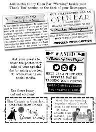 Newspaper Wedding Program 17 Best Images About Wedding Newspaper On Pinterest Unique