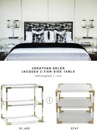 jonathan adler coffee table jonathan adler jacques 2 tier side table copycatchic