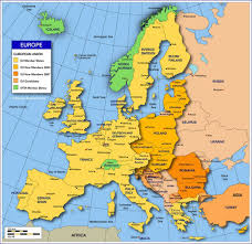 European Union Blank Map by Travel In Europe Geography History And American History