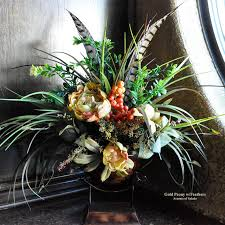 Peony Floral Arrangement Tuscan Decor Old World Peony Floral Arrangement