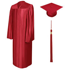 cheap cap and gown 2016 unisex shiny bachelor graduation cap gown school