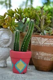 the succulent artist mini cactus planter