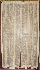 Antique Lace Curtains Lace Curtains Semi Opaque Sand Dollar 45 In L Polyester Valance In