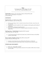 Sample Resume For Fresh College Graduate College Resume Format Resume Sample