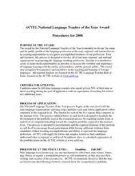sample recommendation letter for teacher of the year cover