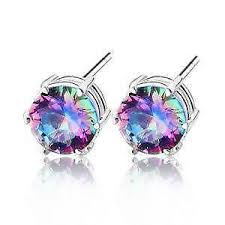 topaz earrings mystic topaz earrings ebay