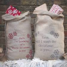 personalised message sack by catherine colebrook