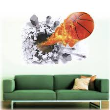 3d basketball wall stickers diy decals home decoration house 3d basketball wall stickers diy decals home decoration house removable vinyl wallpaper art baby kids bedroom living room murals in wall stickers from home