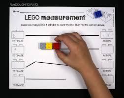 lego measurement playdough to plato