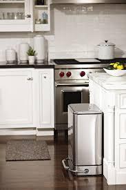 kitchen island with trash bin stylish kitchen trash can in chrome