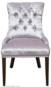 Silver Accent Chair R 1071 Accent Tufted Fabric Dining Chair In Black