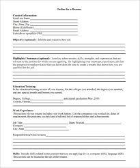 Sample Job Resume Pdf by Resume Outline Template U2013 10 Free Word Excel Pdf Format