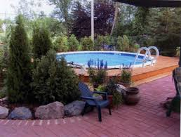 landscaping u0026 pool front yard landscape above ground pool decks