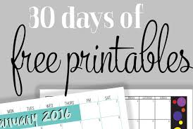 organized home printable menu planner 30 days of free printables i heart planners