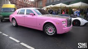 pimped rolls royce hilariously pink rolls royce phantom owned by dubai princess