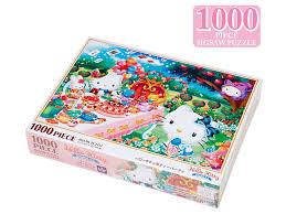 hello kitty jigsaw puzzle 1000 pieces tea party sanrio japan