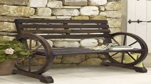 Rustic Outdoor Furniture by Best Choice Products Patio Garden Wooden Wagon Wheel Bench Rustic