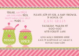 sugar and spice and everything baby shower baby shower invitation cards sugar and spice baby shower