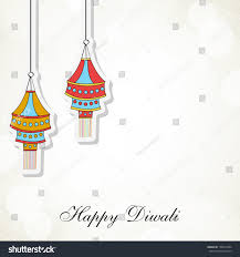 indian festival lights happy diwali concept stock vector 158413994