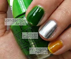 opi color paints nail polish swatches tie dye nail art