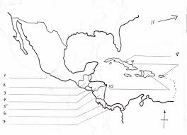 Blank Map Of The Americas by Blank Map Of Central America And Caribbean Islands America Map