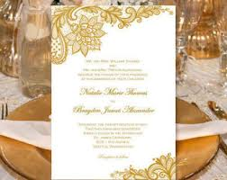 vintage lace wedding invitations gold vintage wedding invitations or 50th wedding