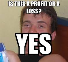 Profit Meme - is this a profit or a loss yes stoned guy meme meme generator