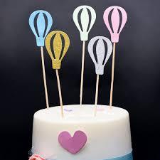 air cake topper 60 pcs creative hot air balloon diy cake topper topper child