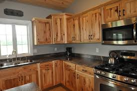 Rustic Hickory Maybe The Dark Counters Really Help The Cabinets - Hickory kitchen cabinets pictures
