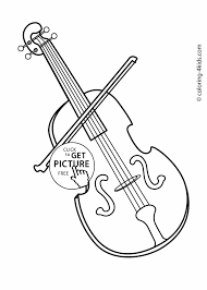 musical instrument coloring pages eson me