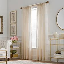 Gold And White Curtains Buy Gold Sheer Curtains From Bed Bath Beyond