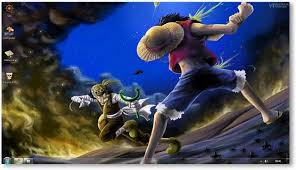 wallpaper animasi one piece bergerak one piece theme for windows 7 and 8 anime themes