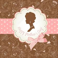 mother u0027s day card cute vintage frames with ladies silhouettes