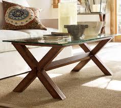 ava glass display wood desk ava wood glass rectangular coffee table espresso stain pottery barn