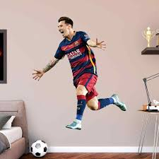 lifesize wall decals home interior decor fc barcelona lionel messi celebration wall decal hayneedle awesome fatheadz decals stickers for wall lifesize wall