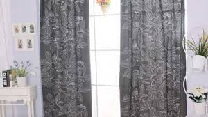 Brown Patterned Curtains Henny Rand Curtains 1 Pair White Brown Gray Ikea New Grey