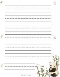 printable animal lined paper jungle animal writing paper jungle animal stationery panda paper
