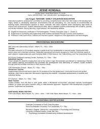 Resume Good Example by Cover Letter Toddler Teacher Resume Montessori Toddler Teacher