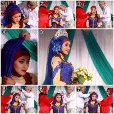 tutorial jilbab segi 4 untuk kebaya hijab kebaya pengantin muslim modern 4