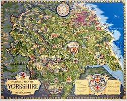 Map Of Yorkshire England by Pictorial Map Of Yorkshire Art Print By National Railway Museum