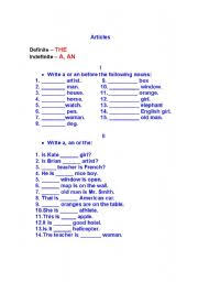 english worksheets the articles worksheets page 111