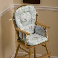 Rocking Chair Cushions For Nursery by Nursery Rhyme Toile Sage High Chair Pad Carousel Designs